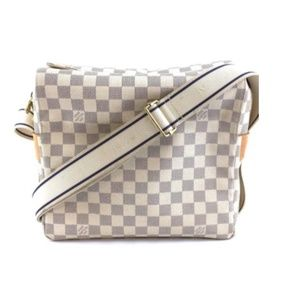 Shoulder Naviglio Damier Azur Canvas Messenger Bag